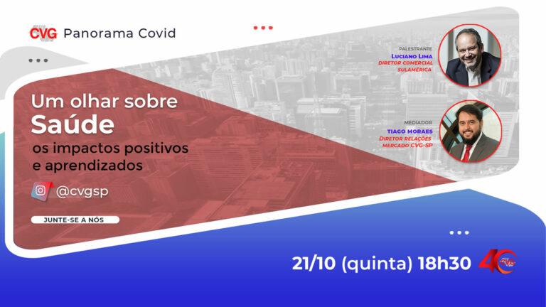 CVG-SP discutirá o tema Saúde em nova live da série Panorama Covid